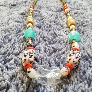 Multi Colored Handcrafted  Bead Necklace